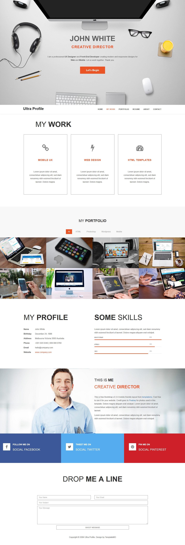 free template 464 ultra profile