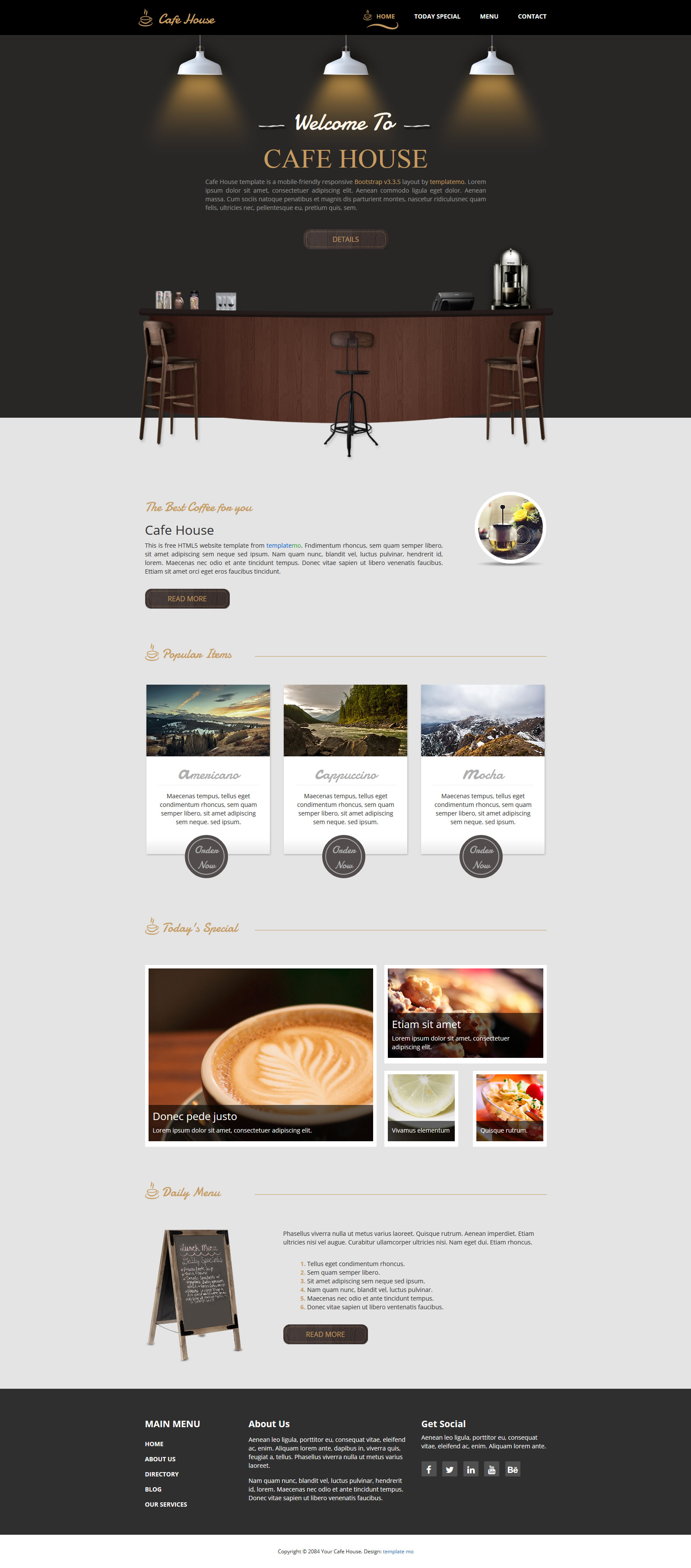 free template 466 cafe house