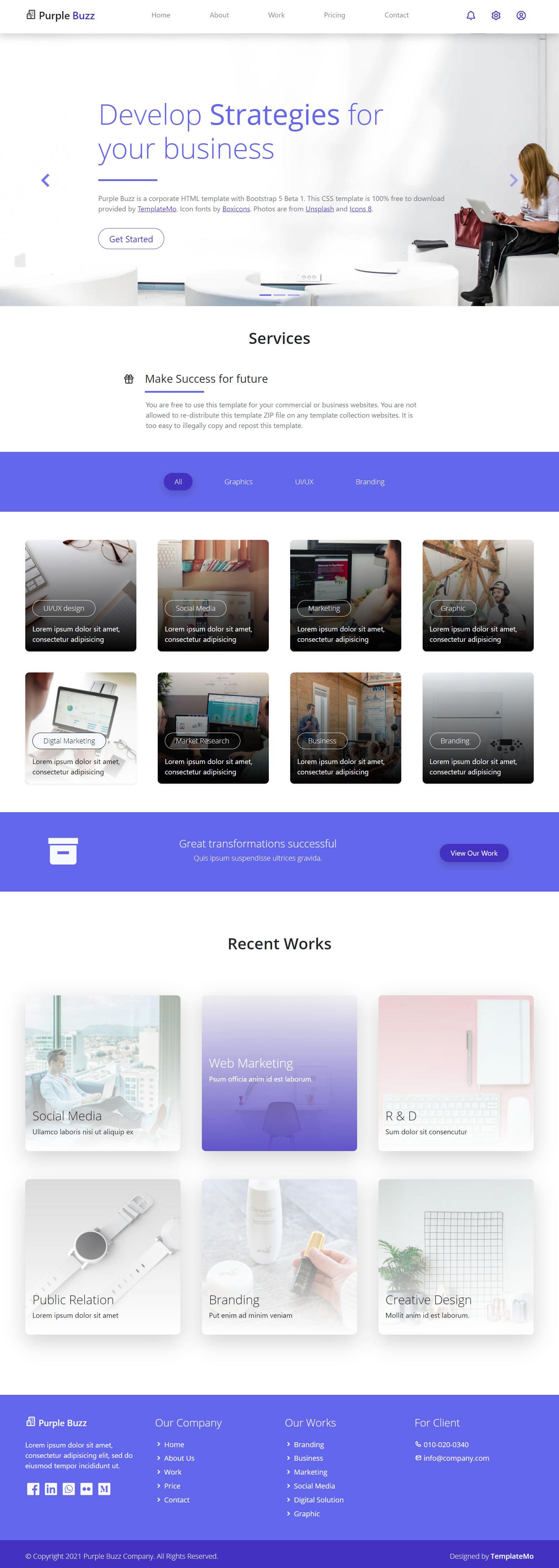 Purple Buzz Template