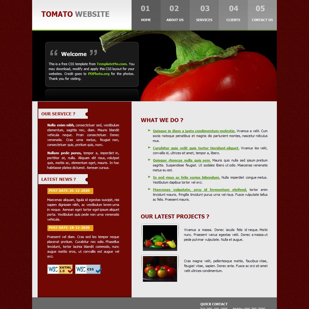 free template 033 tomato