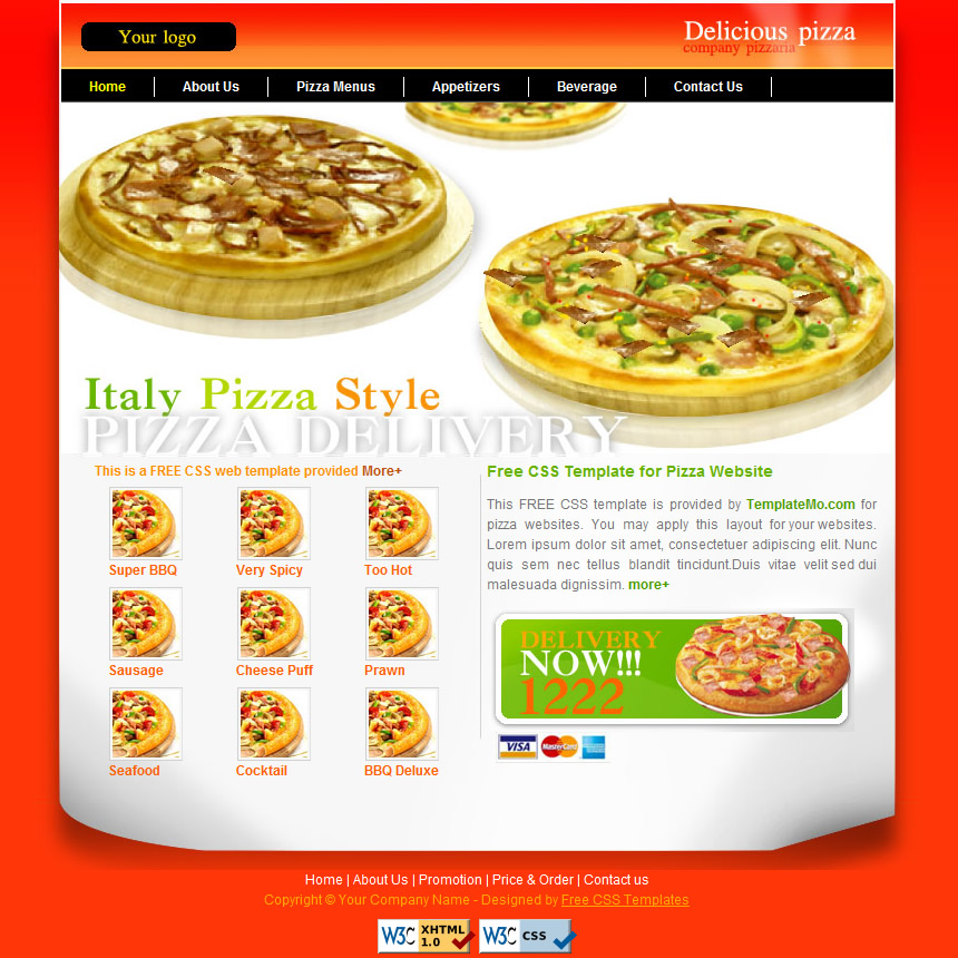 free template 057 pizza