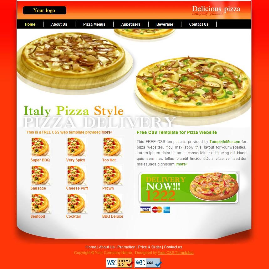Website template for pizza restaurant 15 best pizza website.