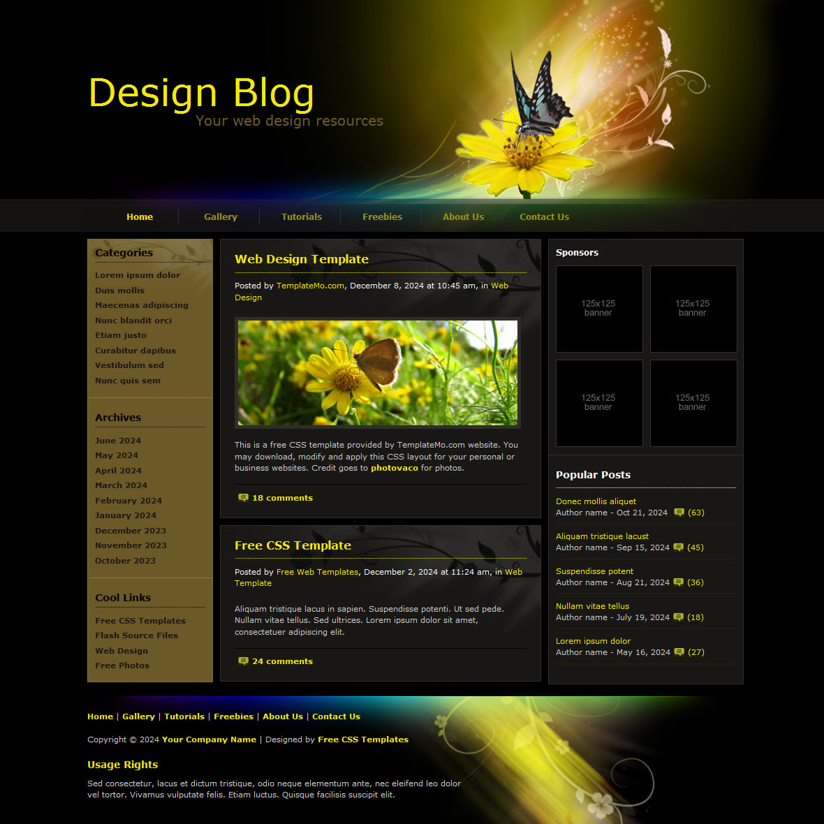 templatemo 084 design blog