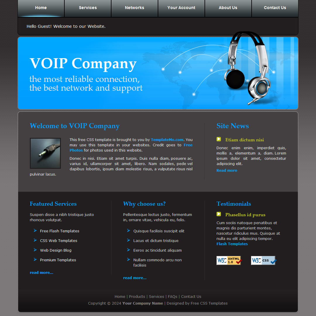 templatemo 097 voip