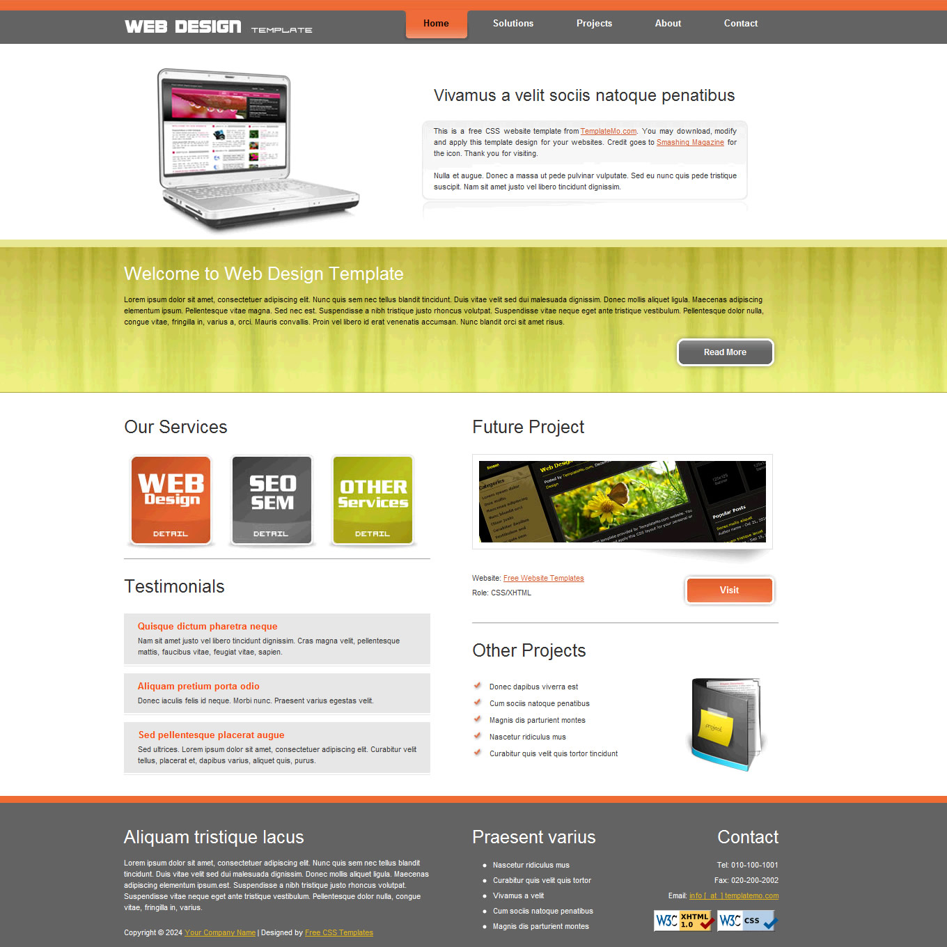 Simple website templates.