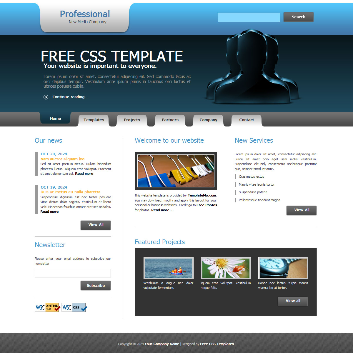 Free Template 156 Professional
