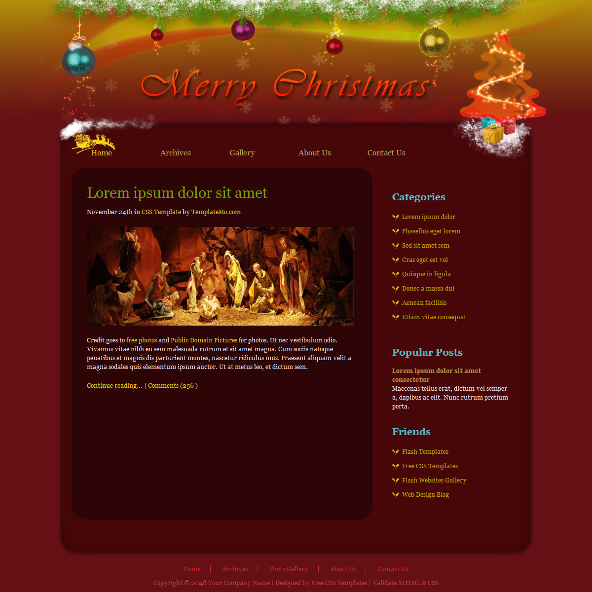 Free and premium christmas html email newsletter templates.