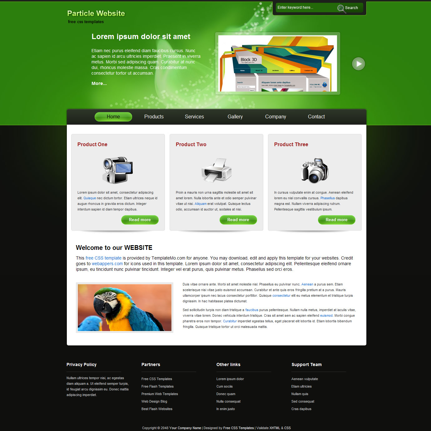 Free css website templates page 1 of 237 | free css templates.