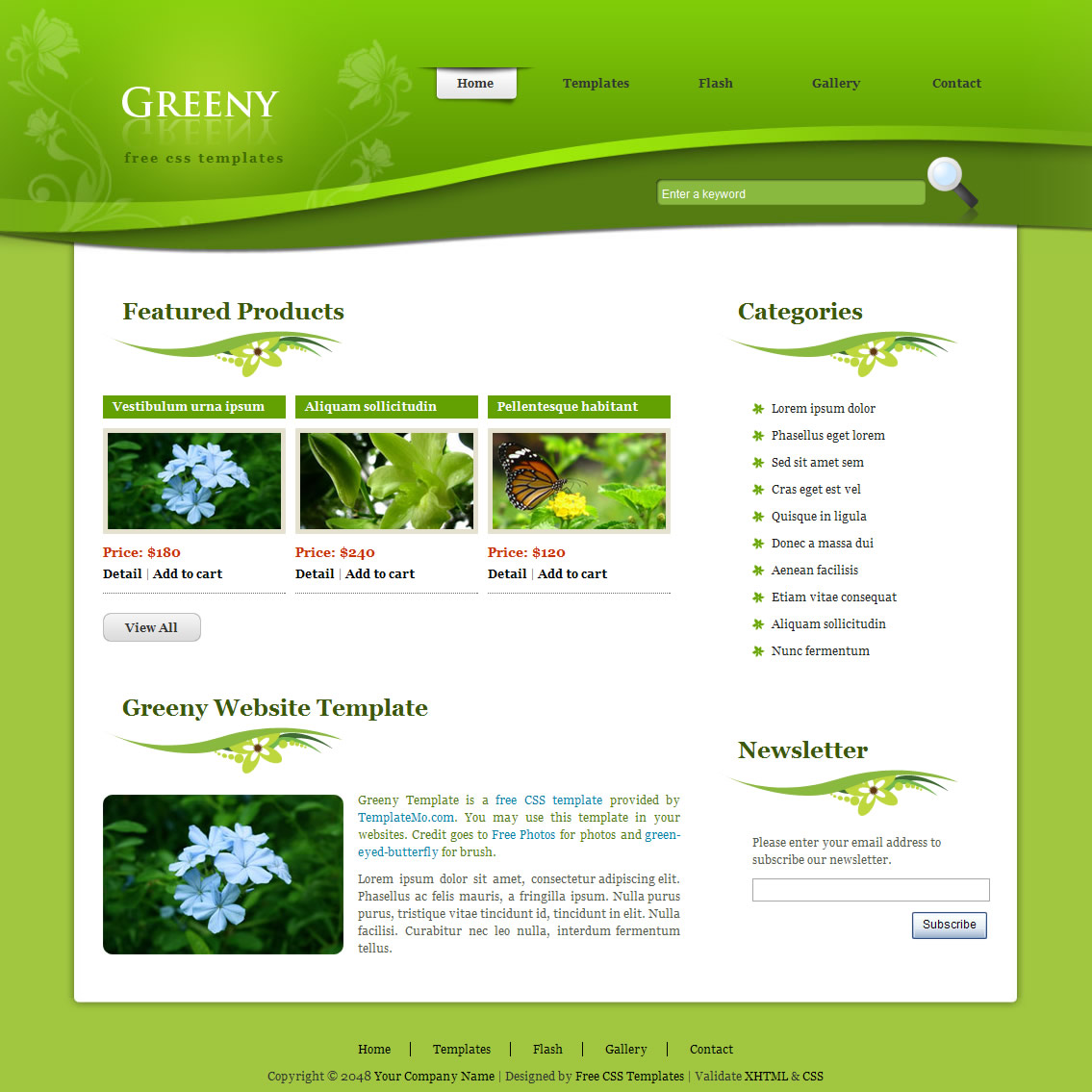 Free Flash Websites Template from templatemo.com
