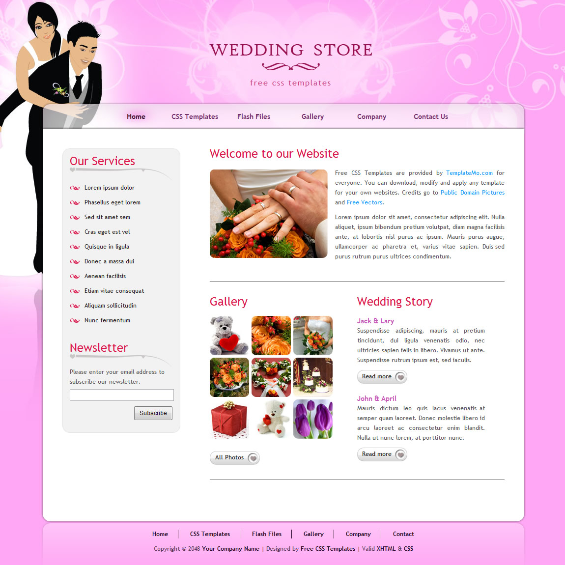 templatemo 224 wedding store