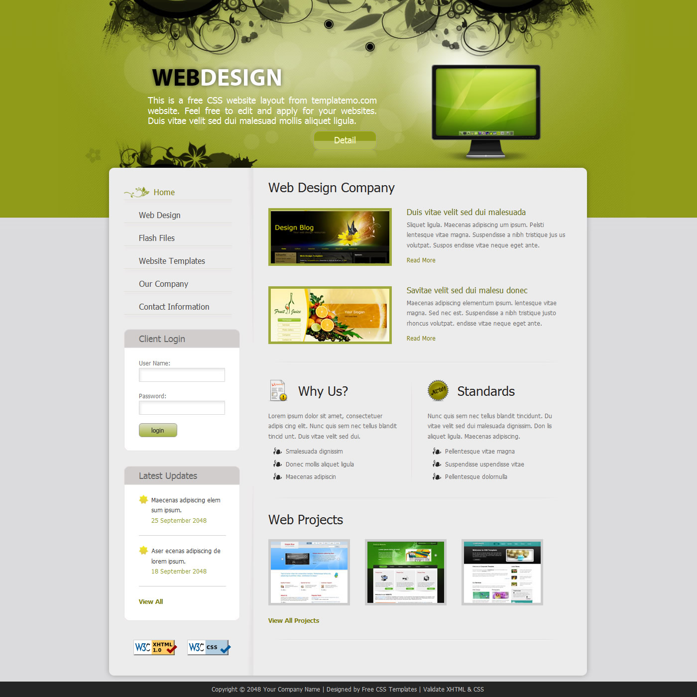 free template 243 web design