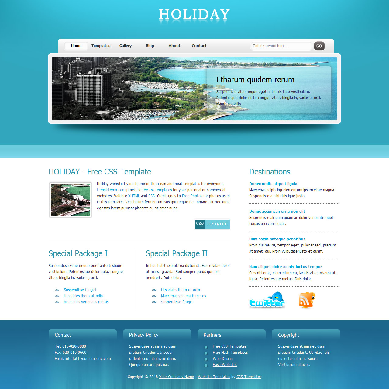 Free Template 270 Holiday