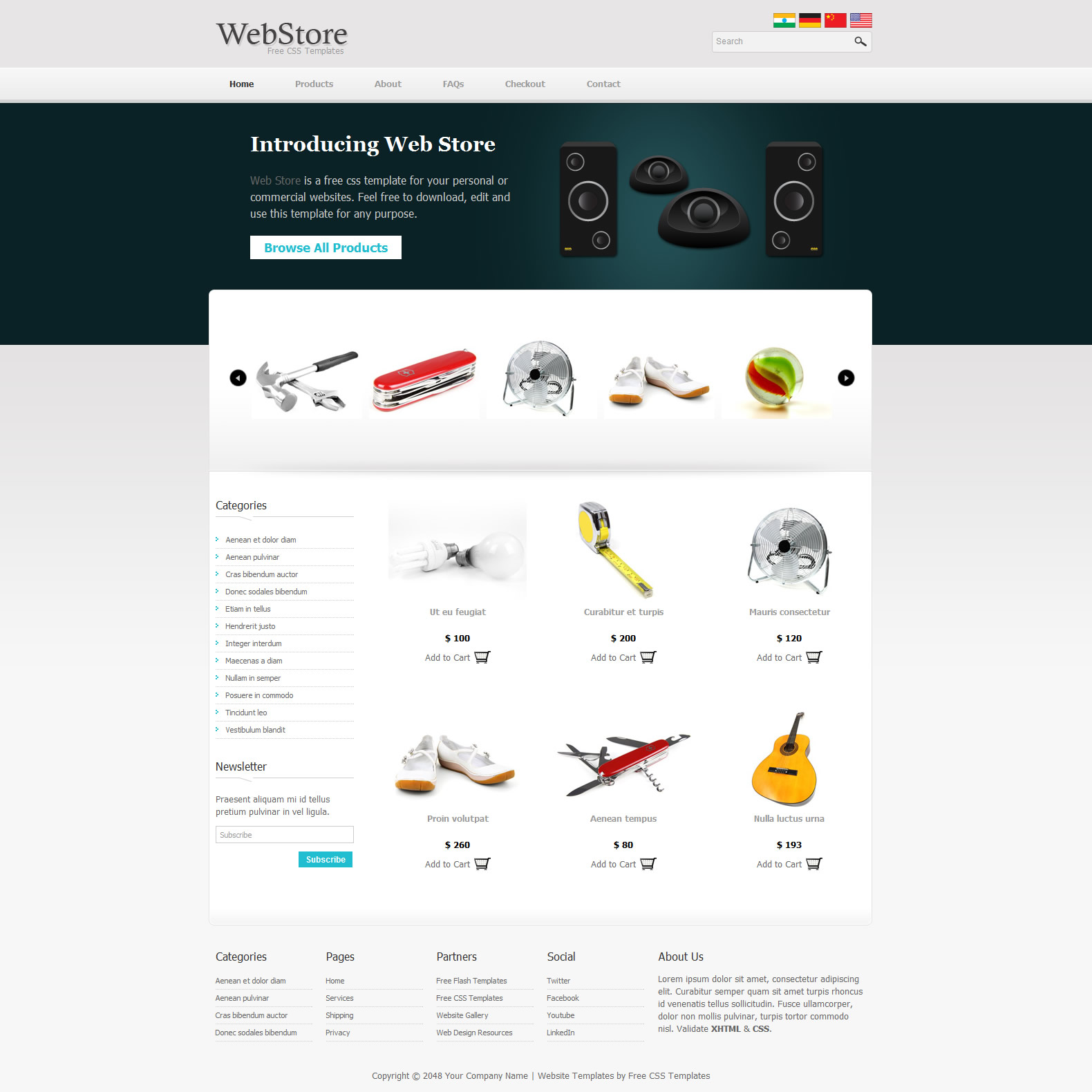 free template 341 web store