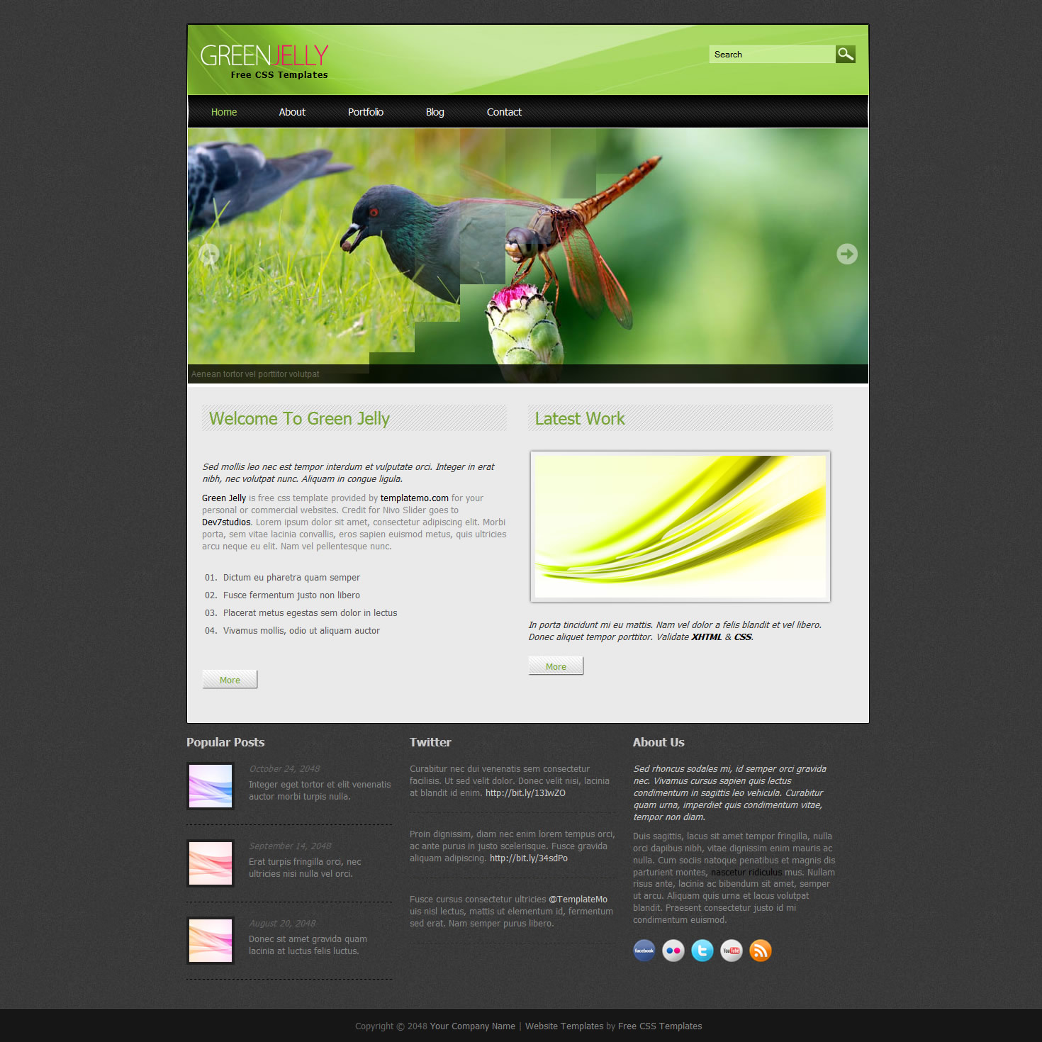 templatemo 343 green jelly