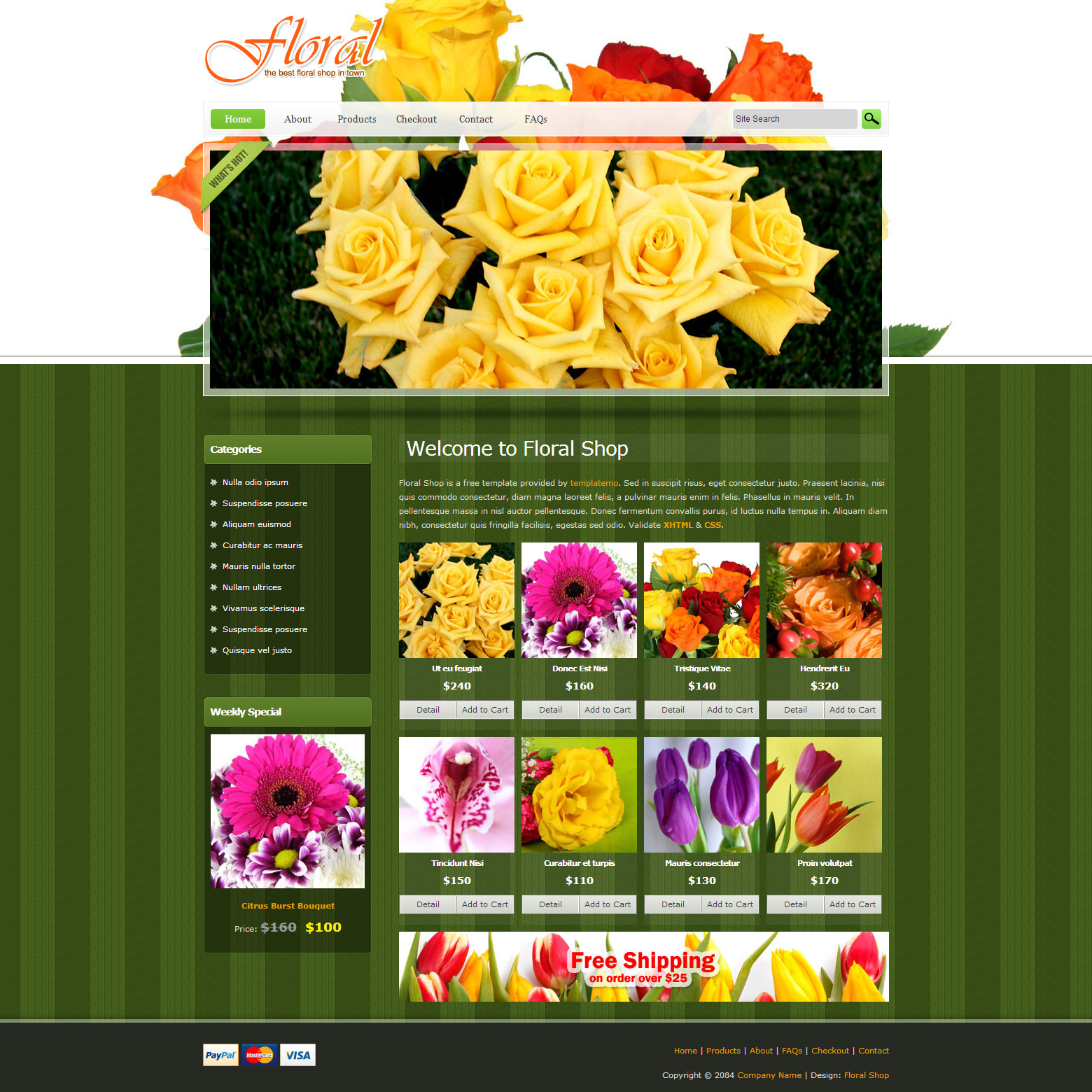 free template 385 floral shop
