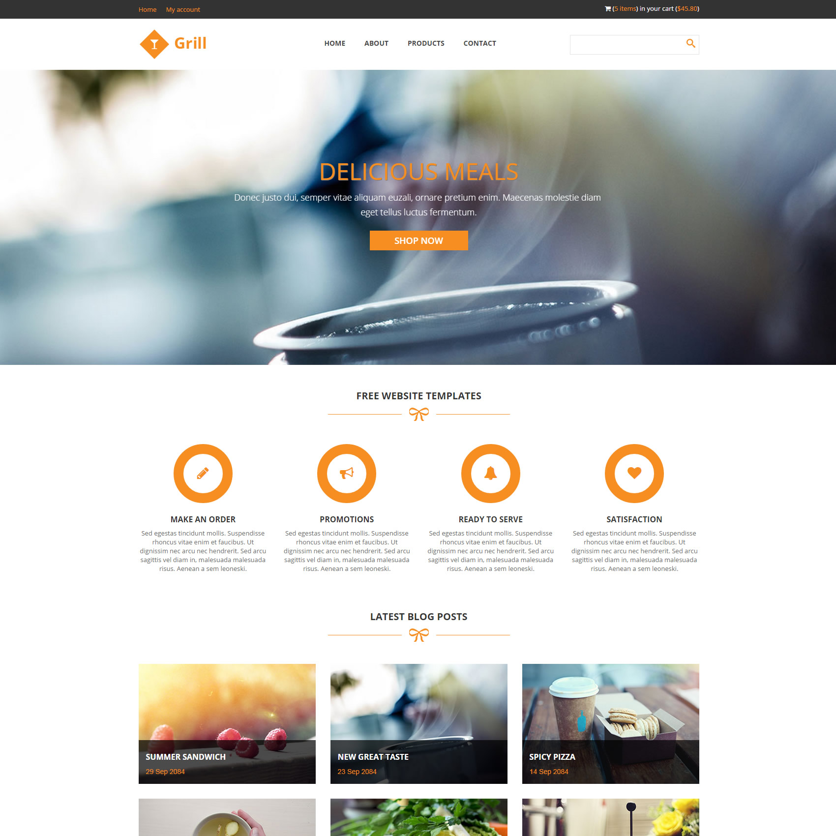 free responsive website templates with slider