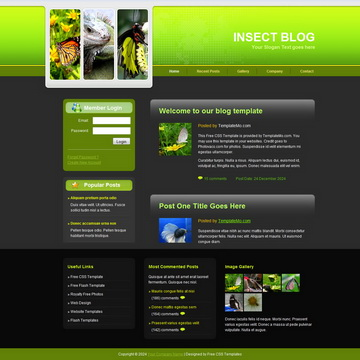 Insect Blog Template