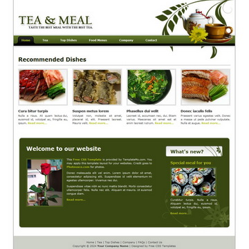 Tea And Meal Template