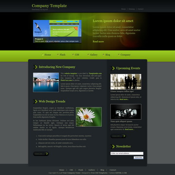 Company Green Template