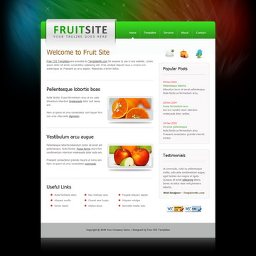 Fruit Site Template