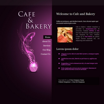 Cafe Bakery Template