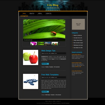 City Blog Template