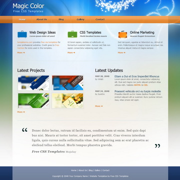 Magic Color Template