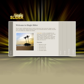 Single Slider Template