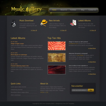 Music Gallery Template