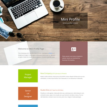 Free One-page Website Templates by templatemo