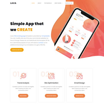 Lava Landing Page Template