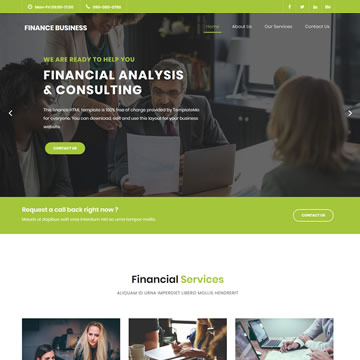 Finance Business Template