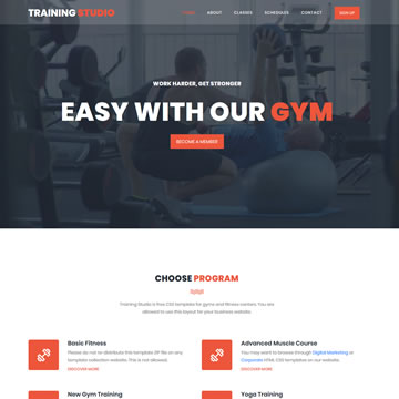 Training Studio Template